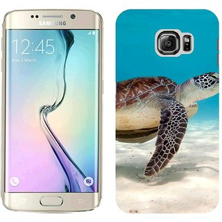 Samsung S6 Edge G9250 Design Back Cover Case - Ack Turtle Sea Water Sand Bottom Shell