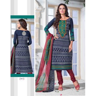 New Fashion Exclusive Design fancy Printed Cotton Dress material (C9)