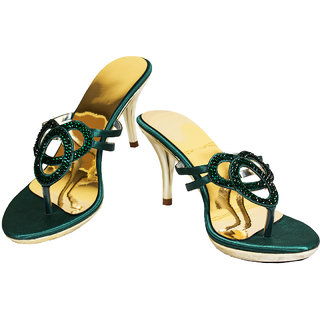 Rialto Green Heel Sandal for Women