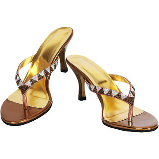 Rialto Gold Heel Sandal for Women