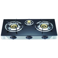3 Burner Glass Top Automatic Gas Stove WITH FREE SHIPING