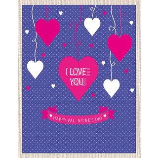 meSleep Blue Love U Valentine Canvas (14x18)