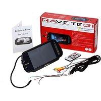 Ravetech 7 Mp5 Bluetooth Mirror Monitor Black LED