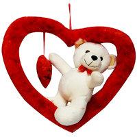DealBindaas Romy Teddy Valentine Soft Toy Cream