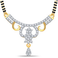 Silver Dew 92.5 Sterling Silver 18K Gold Plated Tanmaniya   in CZ Stone JHT0001