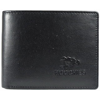 Moochies Gents leather wallet Size-10x12x2 CMS Color-Black