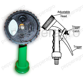 Car Wash Gardening Tools Water Spray Gun Four Mode Sprayer Pet Bath Floor Clean available at ShopClues for Rs.150