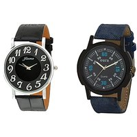 Oura Analog Round Casual Wear Watch For Men Pack Of 2pc