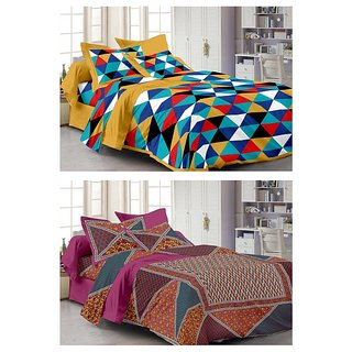 Story@Home Set Of 2 Single Bedsheet With 2 Pillow Cover(FY_1101-1104)