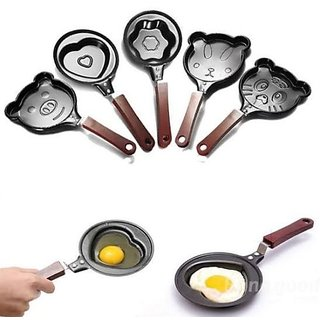 Cartoon Shape Teddy Bear Shape Design Non Stick Egg Frying Pan
