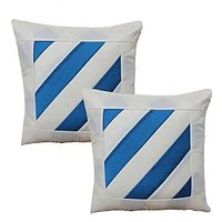 Dekor World Stripe Cushion Cover(Pack Of 2)