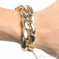 WF So Shiny Gold Plated Chain Bracelet Bangles For Women Jewellery