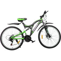 Cosmic Voyager 21 Speed Mtb Bicycle Black-Green-Premium Edition