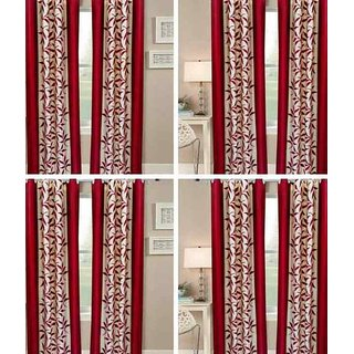 shiv shankar handloom set of 8 Long Door Curtains (9X4 Feet)