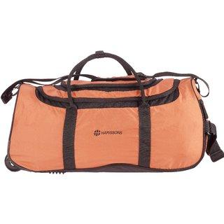 Harissons Float Wheel Duffel Brown Polyester Unisex 2 Wheel Bag