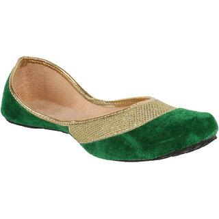Sassily Womens Gorgeous Green designer Juti