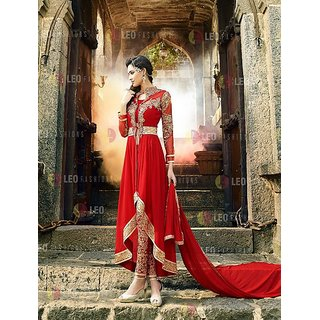 Thankar Red Heavy Designer Georgette Anarkali Suits