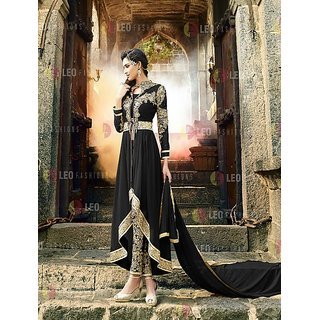 Thankar Black Heavy Designer Georgette Anarkali Suits
