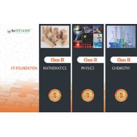 IIT Foundation Series-Class 9(3 Books Inside!) MathsPhysicsChem With Key  Sol