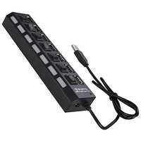 7 Port 3.0 USB Super Hub/2.0 Hub With Independent Switches
