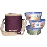Lock & Seal Lunch Box 3pcs By Craftpac