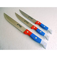 "Set Of 3 Size Stainless Steel Imported Cover Handle Kitchen Knife 4"" 5"" 6"" Inch"