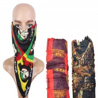 Sushito Colourfull Bob Marley Multi Use Headwrap Combo Bandana JSMFHHR0169