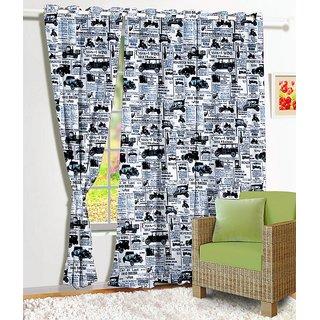 Story @ Home 1 Pc Digital Print Window Curtain-5 Feet - Wrt1108
