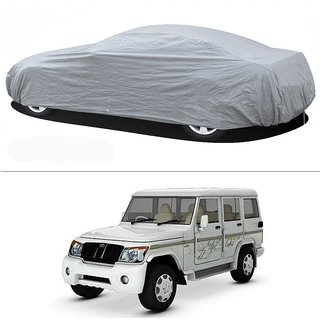 Stylobby Silver Car Cover For Mahindra Bulero