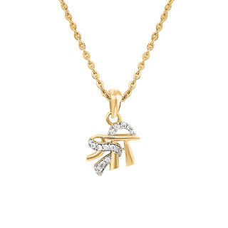Mahi Gold Plated Shree Religious Pendant with CZ for Men Women PS1101531G