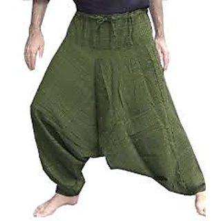 Khadi Green Harem Pants
