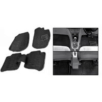 Hi Art 3D Black Floor and Foot Mats for Tata Vista