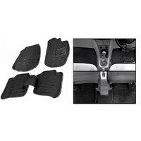 Hi Art 3D Black Floor and Foot Mats for Hyundai Santro Xing