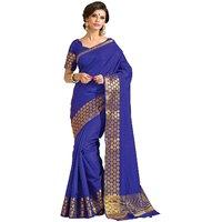 Womens Tassar Silk Saree(Taanshi 2612Blue)