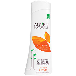 Adven Naturals Anti-Dandruff Shampoo with Neem Tulsi (pack of two200 ml)