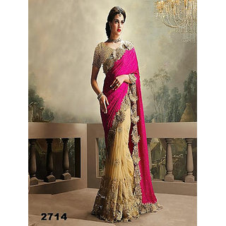Parag Embroidered Georgette Saree available at ShopClues for Rs.11580