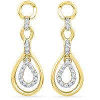 Jpearls 18 Kt Gold Valentines Day Special Diamond Earrings  (EF018138)