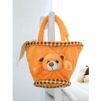 Novel Orange   Basket  Bag Soft Toy