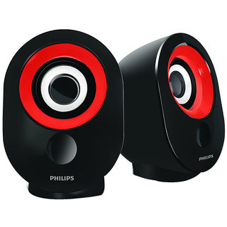 Philips SPA 50 USB 2.0 Computer Speakers - Red