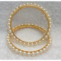 Pearl Golden Bangles set of 2