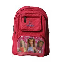 Raeen Plus pink  barbie double poket school backpack