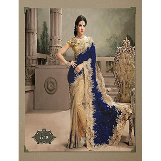 Parag Embroidered Georgette Saree available at ShopClues for Rs.11480