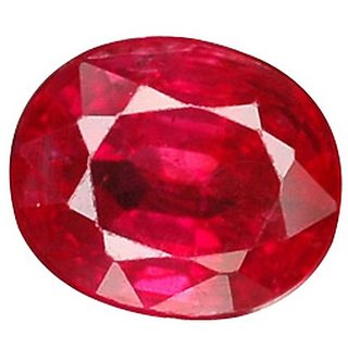 JAIPUR GEMSTONE SUGGESTED 6.25 CARAT RUBY (MANIK) With Six Mukhi Rudraksha