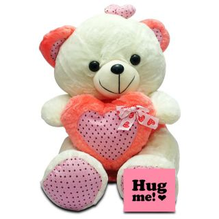 Giftcart - Best Huggy Pink and White Teddy Bear Ever
