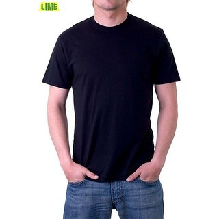 93839ba6984 Black Round T Shirt available at ShopClues for Rs.259