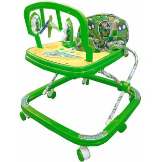 suraj baby adjustable musical walker with green color for your kids se-w-14