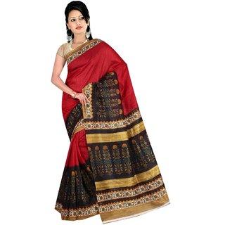 fabplus bhagalpuri silk saree with blouse piece