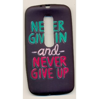 Moto G 3rd Gen... Never Give Up Back Cases