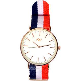 Pourni Tri color Strap Analog watch for Men - PRWC08