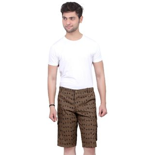 Printed shorts For Mens  (Coffe Color)